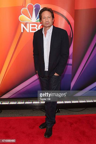 Actor David Duchovny attends the 2015 NBC Upfront Presentation Red Carpet Event at Radio City Music Hall on May 11 2015 in New York City