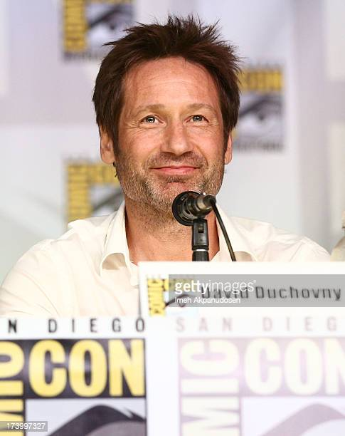 Actor David Duchovny attends the 20th Anniversary celebration of the XFiles with TV Guide Magazine during ComicCon International 2013 at San Diego...