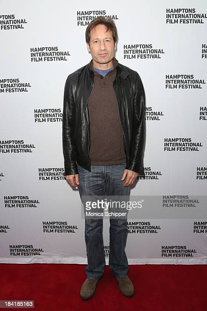Actor David Duchovny attends the 21st Annual Hamptons International Film Festival on October 11, 2013 in East Hampton, New York.