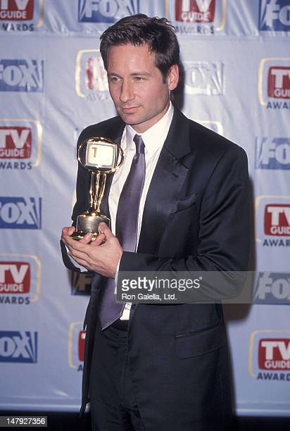 Actor David Duchovny attends the First Annual TV Guide Awards on February 1 1999 at 20th Century Fox Studios in Century City California