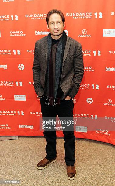 Actor David Duchovny attends the GOATS premiere during the 2012 Sundance Film Festival held at Eccles Center Theatre on January 24 2012 in Park City...