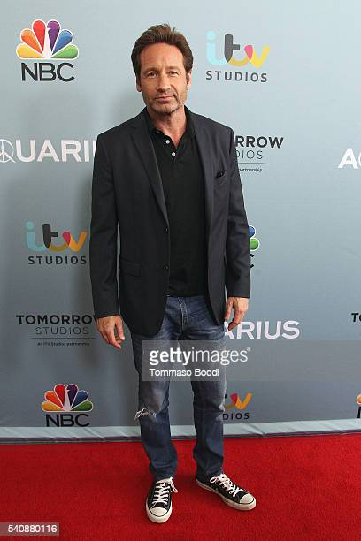 Actor David Duchovny attends the premiere of NBC's Aquarius Season 2 held at The Paley Center for Media on June 16 2016 in Beverly Hills California