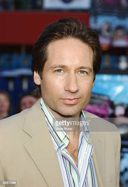 Actor David Duchovny attends the world premiere of the film Connie and Carla at the Universal Studios Cinema April 13 2004 in Universal City...