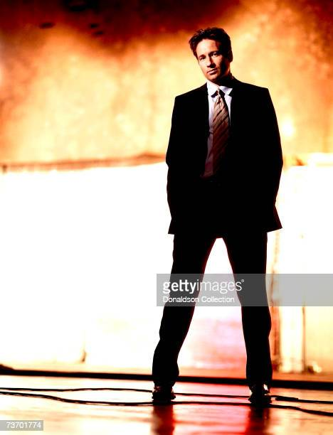 Actor David Duchovny poses for a photo shoot for TV Guide in 1998 at a studio in Vancouver Canada