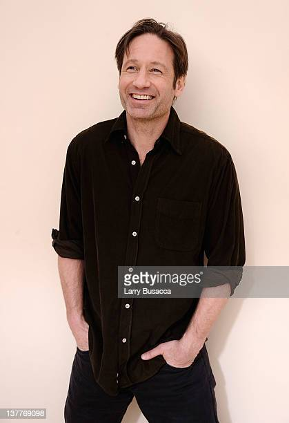 Actor David Duchovny poses for a portrait during the 2012 Sundance Film Festival at the Getty Images Portrait Studio at TMobile Village at the Lift...