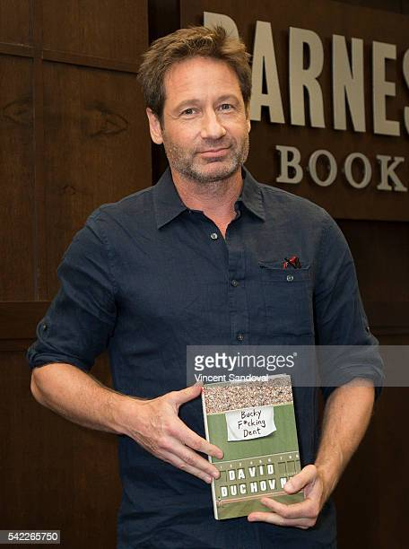 Actor David Duchovny signs his new book 'Bucky F*cking Dent' at Barnes Noble at The Grove on June 22 2016 in Los Angeles California