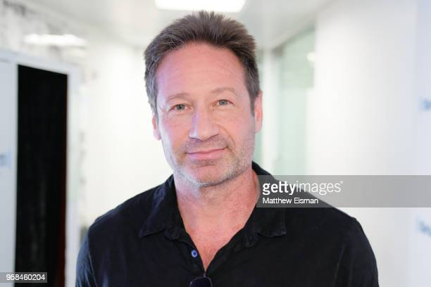 Actor David Duchovny visits SiriusXM Studios on May 14 2018 in New York City