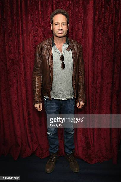 Actor David Duchovny visits the SiriusXM Studio on April 8 2016 in New York City