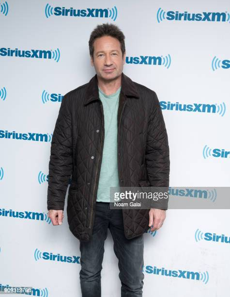 Actor David Duchovny visits the SiriusXM Studios on January 23 2018 in New York City