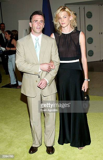 Actor David Eigenberg and wife Chrysti attend the Sex and The City Party at the American Museum of Natural History June 18 2003 in New York City