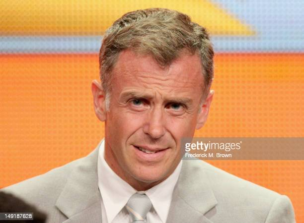 Actor David Eigenberg speaks onstage at the 'Chicago Fire' panel during day 4 of the NBCUniversal portion of the 2012 Summer TCA Tour held at the...