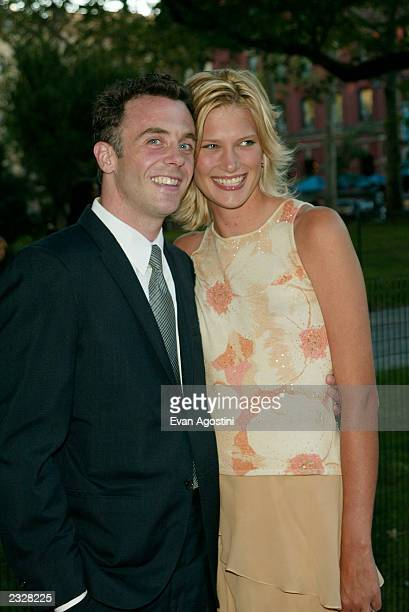 Actor David Eigenberg with girlfriend Chrysti arriving at the World Premiere of the fifth season of Sex And The City at the American Musuem of...