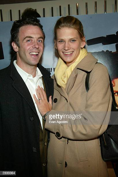 Actor David Eigenberg with new wife Chrysti attending HBO Films' Live From Baghdad NY Premiere at City Cinemas 1 in New York City November 18 2002...
