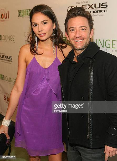 Actor David Faustino and guest arrive at Green Lounge Eco Luxury Experience Earth Day Awards Presented By Lexus Santa Monica on April 22 2010 in...