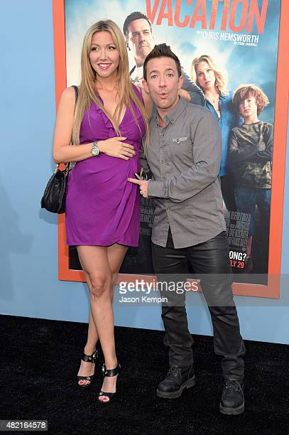 Actor David Faustino and Lindsay Bronson attend the premiere of Warner Bros Vacation at Regency Village Theatre on July 27 2015 in Westwood California