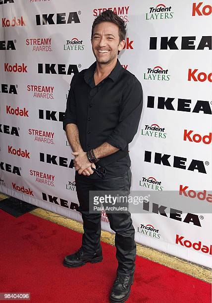 Actor David Faustino arrives at the 2nd Annual Streamy Awards at The Orpheum Theatre on April 11 2010 in Los Angeles California