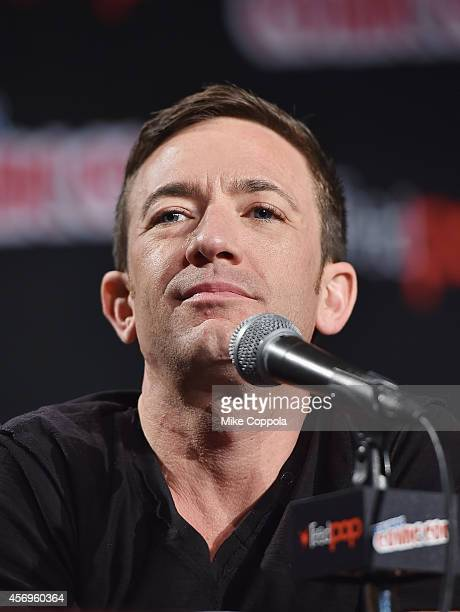 Actor David Faustino speaks during the 'The Legend Of Korra' panel during 2014 New York Comic Con Day 1 at Jacob Javitz Center on October 9 2014 in...