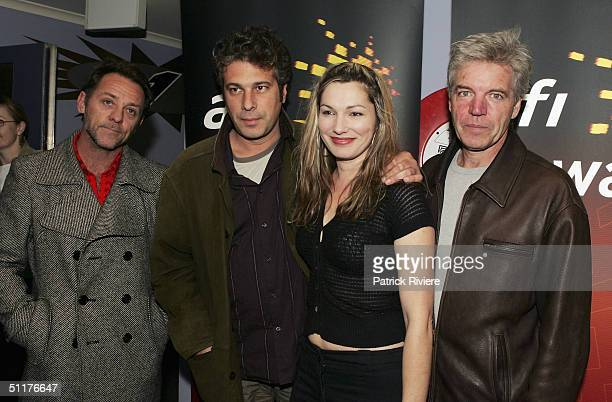 Actor David Field film director Alkinos Tsilimidos actress Loene Carmen and actor Colin Friels at the screening of Tom White first film in the...