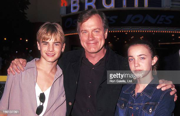 Actor David Gallagher Actor Stephen Collins and daughter Kate Collins attend the 'Summer Catch' Westwood Premiere on August 22 2001 at Mann Village...