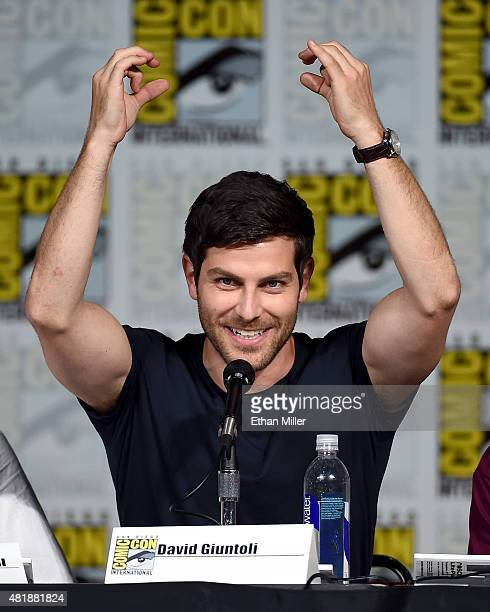 Actor David Giuntoli attends the Grimm season five panel during ComicCon International 2015 at the San Diego Convention Center on July 11 2015 in San...