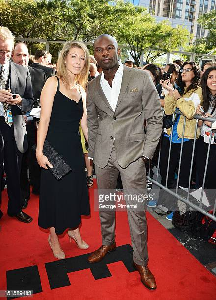 Actor David Gyasi and Emma Gyasi attend the Cloud Atlas premiere during the 2012 Toronto International Film Festival at the Princess of Wales Theatre...