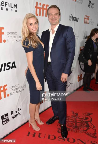 Actor David Harbour and guest attend 'The Equalizer' premiere during the 2014 Toronto International Film Festival at Roy Thomson Hall on September 7...