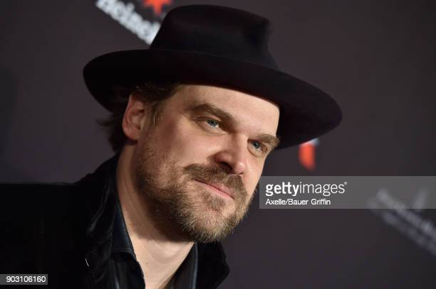 Actor David Harbour arrives at The BAFTA Los Angeles Tea Party at Four Seasons Hotel Los Angeles at Beverly Hills on January 6 2018 in Los Angeles...