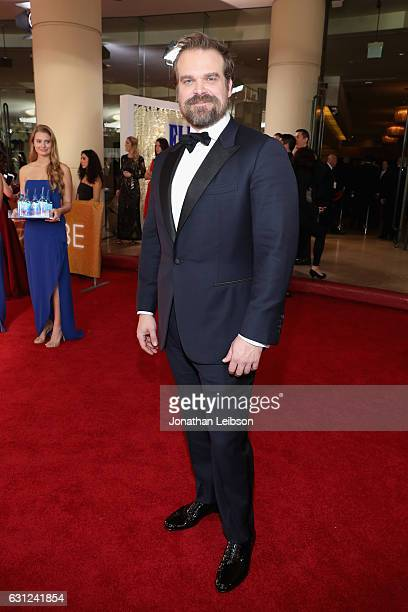 Actor David Harbour at the 74th annual Golden Globe Awards sponsored by FIJI Water at The Beverly Hilton Hotel on January 8 2017 in Beverly Hills...