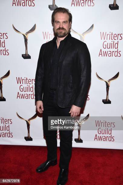 Actor David Harbour attends 69th Writers Guild Awards New York Ceremony at Edison Ballroom on February 19, 2017 in New York City.