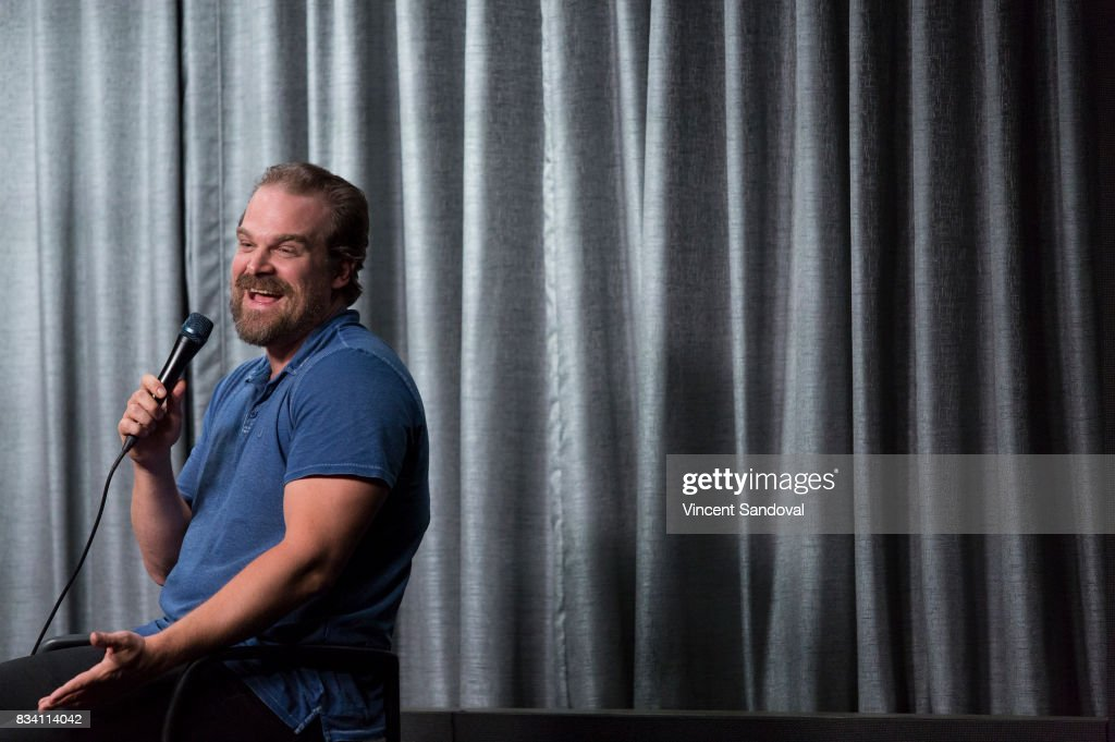 Actor David Harbour attends SAG-AFTRA Foundation Conversations with 'Stranger Things' at SAG-AFTRA Foundation Screening Room on August 17, 2017 in Los Angeles, California.