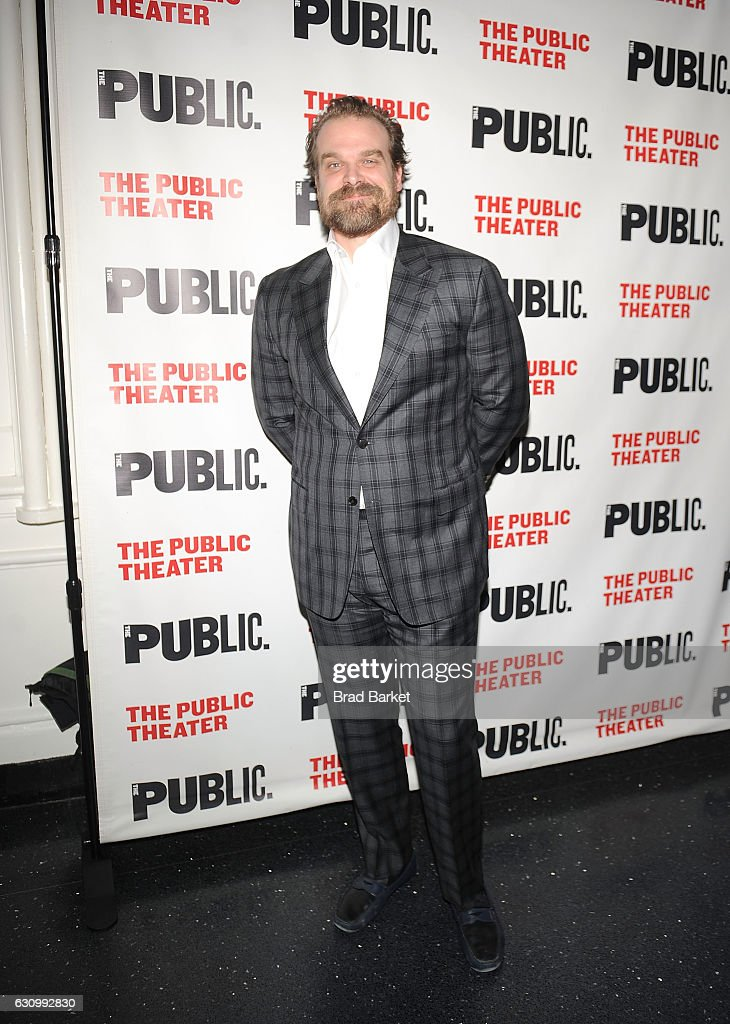 Actor David Harbour attends the 13th Annual Under the Radar Festival 2017 Opening Night at The Public Theater on January 4, 2017 in New York City.