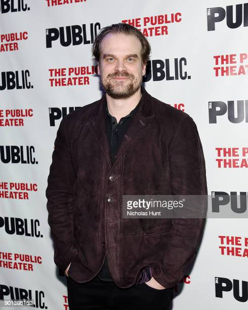 Actor David Harbour attends the 14th Annual Under The Radar Festival opening night at The Public Theater on January 4 2018 in New York City