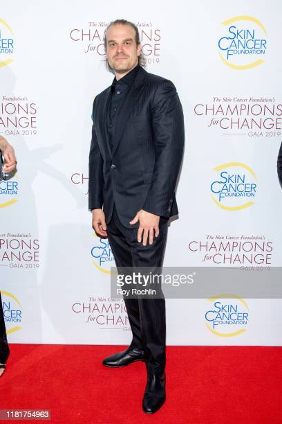 Actor David Harbour attends the 2019 Skin Cancer Foundation's Champions For Change Gala at The Plaza Hotel on October 17, 2019 in New York City.