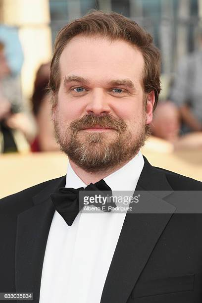 Actor David Harbour attends the 23rd Annual Screen Actors Guild Awards at The Shrine Expo Hall on January 29 2017 in Los Angeles California