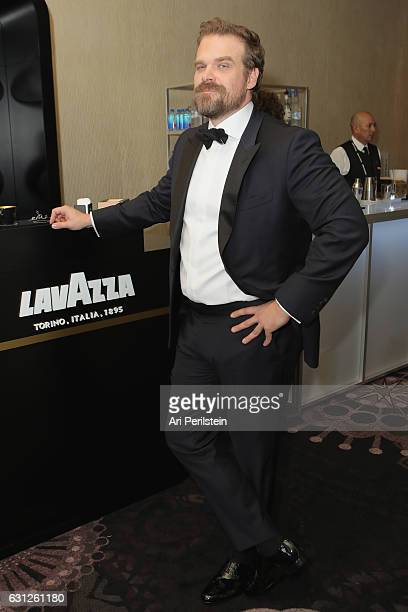 Actor David Harbour attends the 74th Annual Golden Globe Awards sponsored by Lavazza an Italian coffee brand at The Beverly Hilton Hotel on January 8...