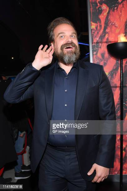 Actor David Harbour attends the Hellboy Canadian Premiere held at Scotiabank Theatre on April 10, 2019 in Toronto, Canada.
