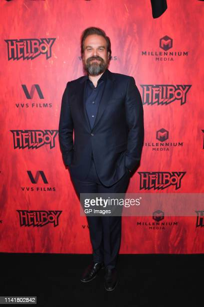 Actor David Harbour attends the Hellboy Canadian Premiere held at Scotiabank Theatre on April 10 2019 in Toronto Canada