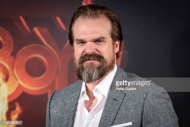 Actor David Harbour attends the 'Hellboy' photocall at Urso Hotel on March 20 2019 in Madrid Spain