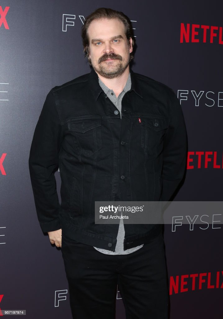 Actor David Harbour attends the Netflix #FYSee 'Scene Stealers' at Netflix FYSee Space on May 10, 2018 in Beverly Hills, California.