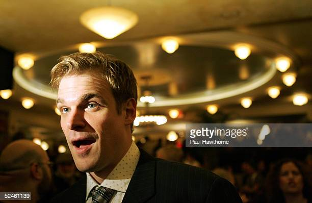 "Actor David Harbour attends the opening night of ""Who's Afraid of Virginia Woolf"" after party at Bond 45 March 20, 2005 in New York City."