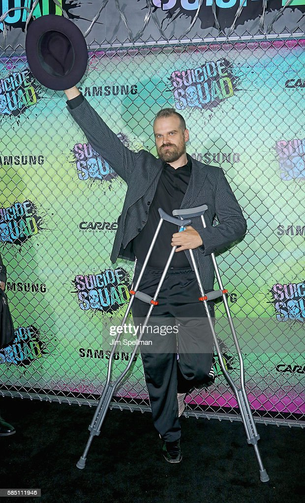 Actor David Harbour attends the 'Suicide Squad' world premiere at The Beacon Theatre on August 1, 2016 in New York City.