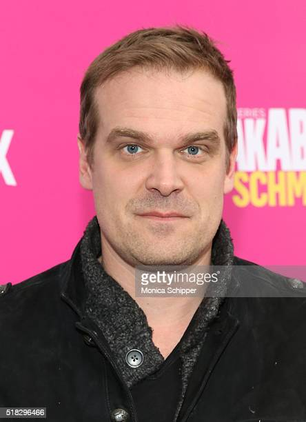 "Actor David Harbour attends the ""Unbreakable Kimmy Schmidt"" Season 2 World Premiere at SVA Theatre on March 30, 2016 in New York City."