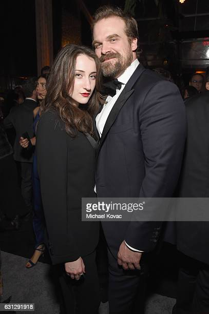 Actor David Harbour attends The Weinstein Company and Netflix Golden Globe Party presented with Moet Chandon at The Beverly Hilton Hotel on January 8...