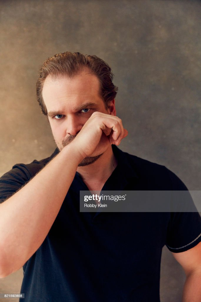 Actor David Harbour from Netflix's 'Stranger Things' poses for a portrait during Comic-Con 2017 at Hard Rock Hotel San Diego on July 22, 2017 in San Diego, California