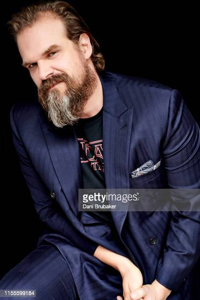 Actor David Harbour is photographed at Netflix's Junket for 'Stranger Things' Season 3 at The London Hotel on June 27, 2019 in West Hollywood,...