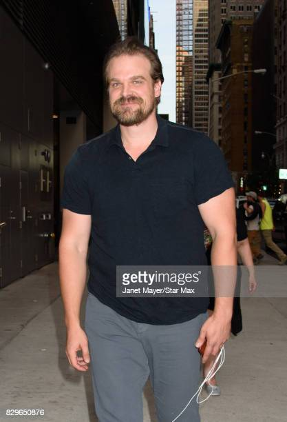 Actor David Harbour is seen on August 10 2017 in New York City