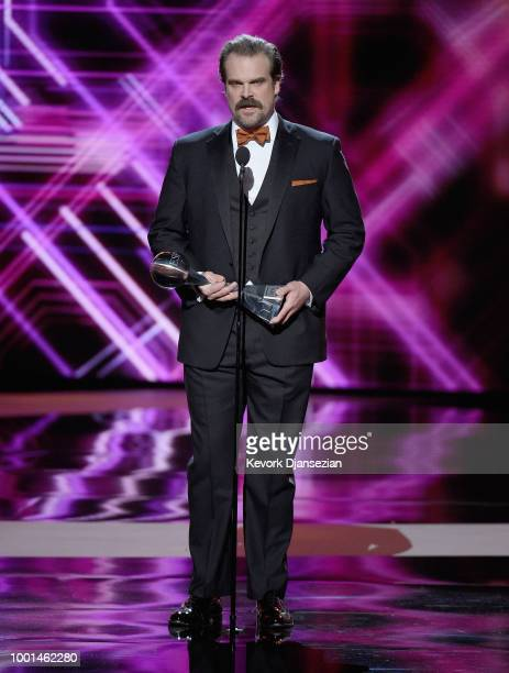 Actor David Harbour presents the award for Best Coach onstage at The 2018 ESPYS at Microsoft Theater on July 18 2018 in Los Angeles California