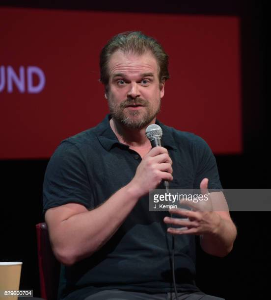 Actor David Harbour visits the SAGAFTRA Foundation Robin Williams Center on August 10 2017 in New York City