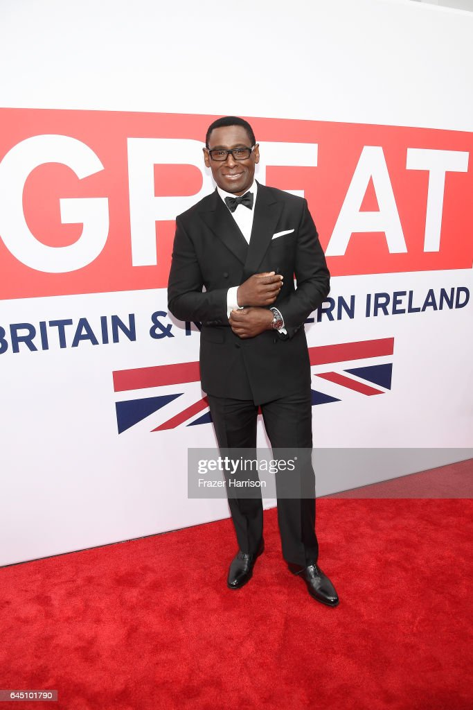 Actor David Harewood attends Film is GREAT Reception honoring the British Nominees of the 89th Annual Academy Awards Sponsored by British Airways at Fig & Olive on February 24, 2017 in West Hollywood, California.