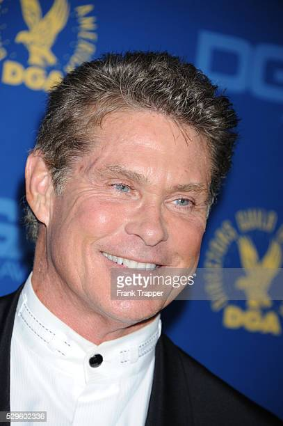 Actor David Hasselhof arrives at the 65th Annual Directors Guild Awards held at the Ray Dolby Ballroom at Hollywood Highland